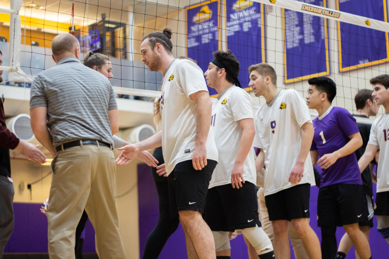 The men's volleyball team won its first game of the season on Thursday Photo credit: Montse Landeros