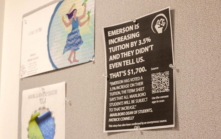 The+Emerson+College+Student+Union+released+the+email+correspondence+from+President+M.+Lee+Pelton+after+the+group+held+a+phone+bank+for+students+to+express+concerns+about+tuition+hikes.+