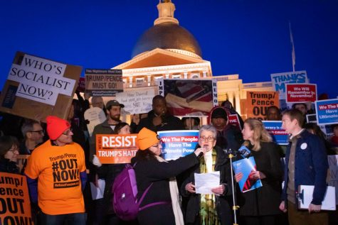 Boston residents reject impeachment outcome in front of State House