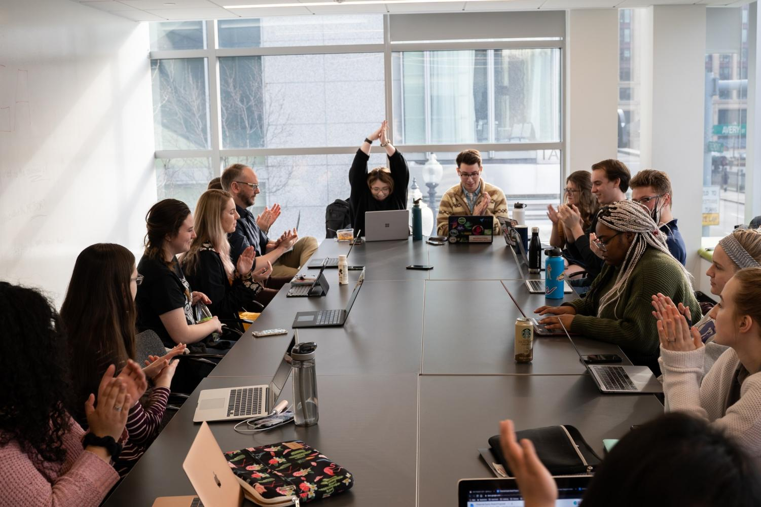 The Student Government Association met in a joint session meeting last week. Photo credit: Yongze Wang