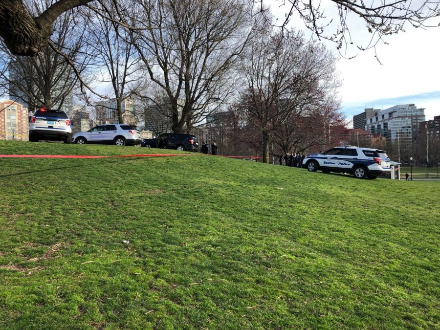 One man was taken to the hospital with non life-threatening injuries after being shot near Boston Common