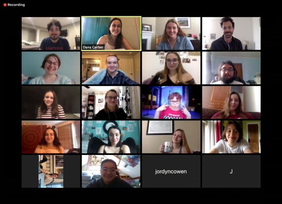 A Zoom class meeting in Spring 2020.