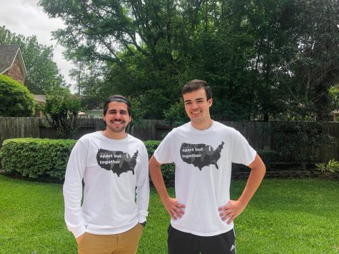 Juniors Christopher Rodriguez and Grant Rosado create a t-shirt company to help those suffering during the coronavirus outbreak.
