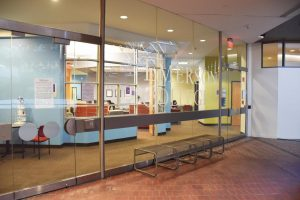Emerson's Title IX office located on the second floor of the State Transportation Building.