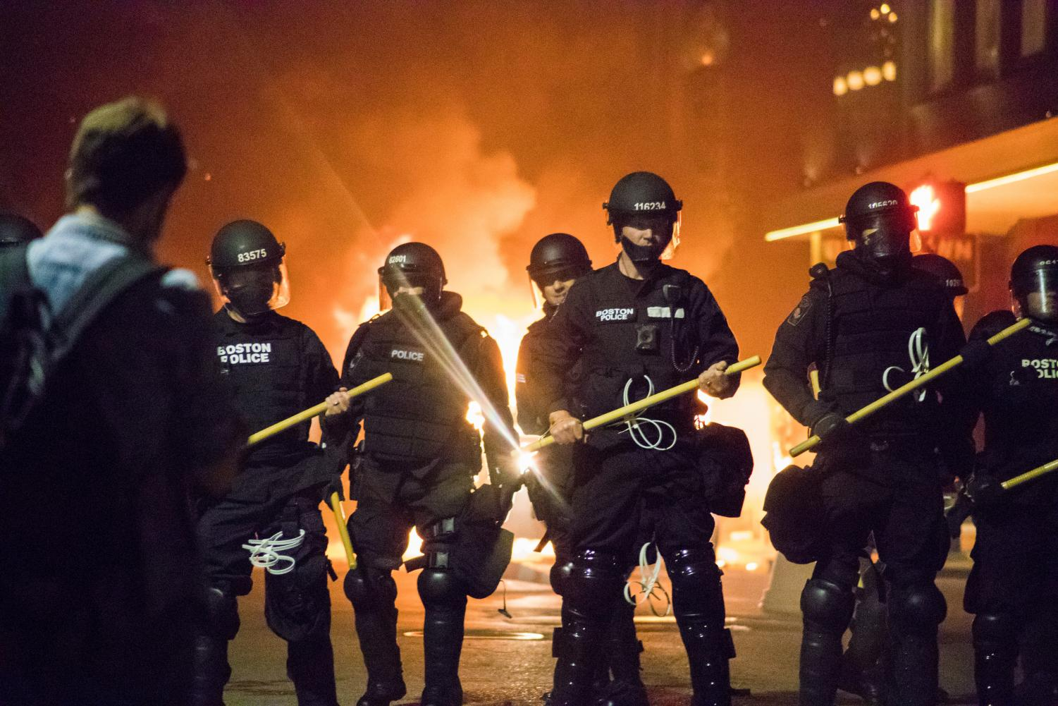 Violence Erupts Near Boston Campus As Police And Protesters Clash The Berkeley Beacon
