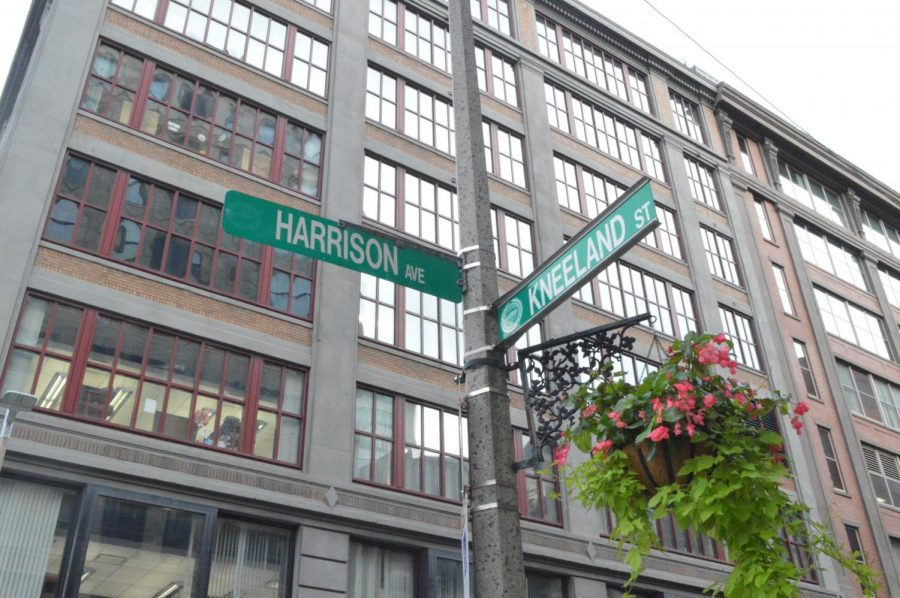 Emerson's testing site is located at a Tufts Medical Center facility on the corner of Harrison Ave. and Kneeland St.