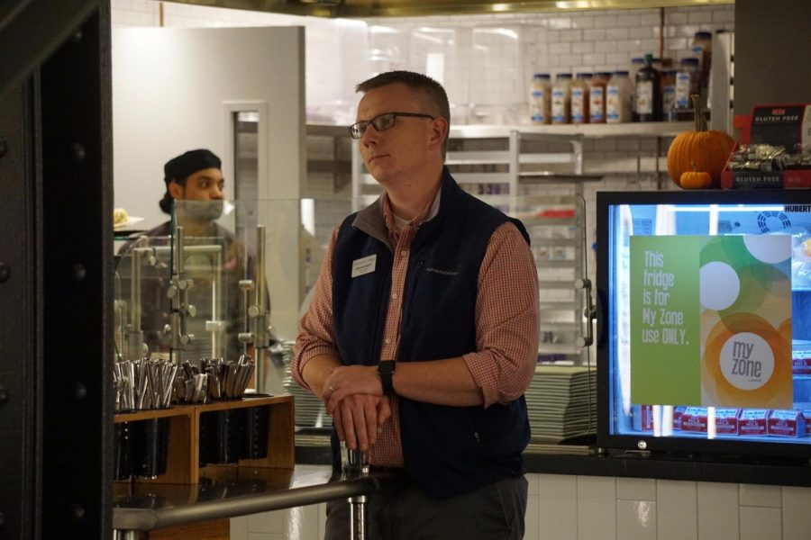 Erik Muurisepp in the Dining Center in Sept. 2017.