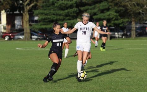 Alana Hagerty (left) started a total of 23 matches during her three seasons as a Lion.