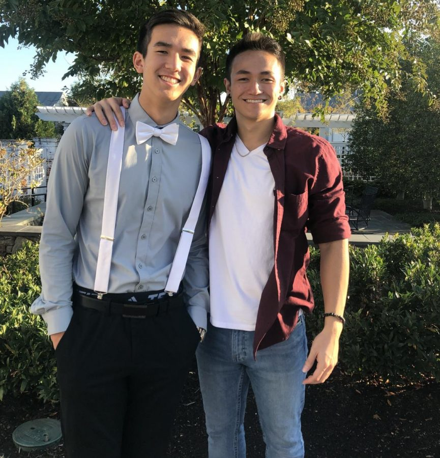 Cameron Arendt (left) with his brother, Ryan.