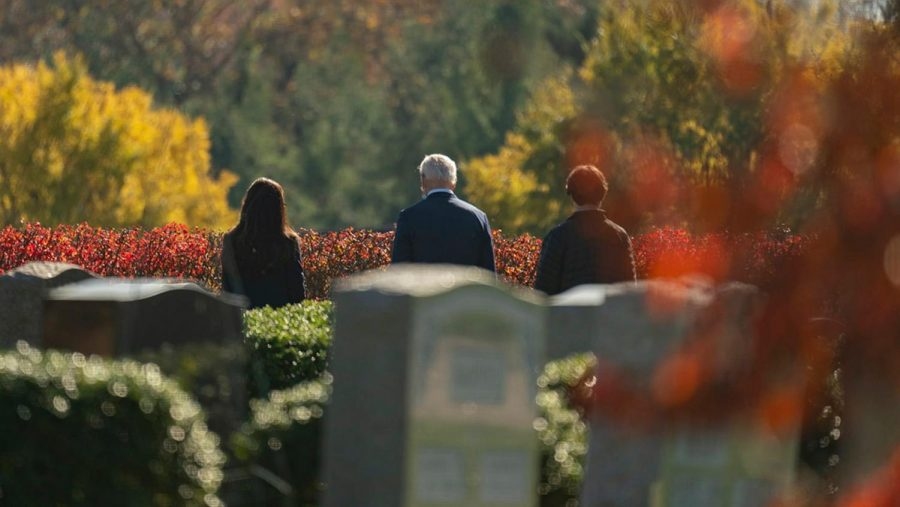 President-elect Joe Biden visits the cemetery where his son Beau, his wife Neilia, and daughter Naomi are buried.