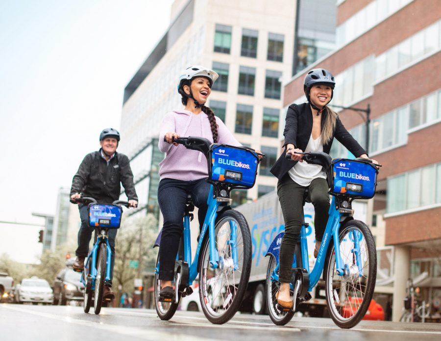 Patrons of Bluebikes can enjoy complementary rides to the polls on Nov. 3. Media courtesy of Bluebikes