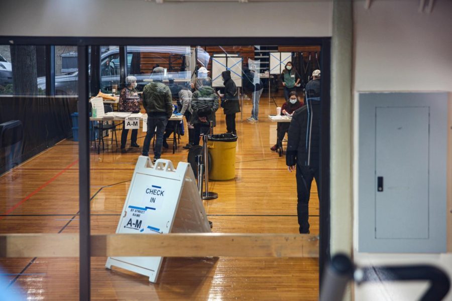 A polling place at the Chinatown YMCA was open on Nov. 3.