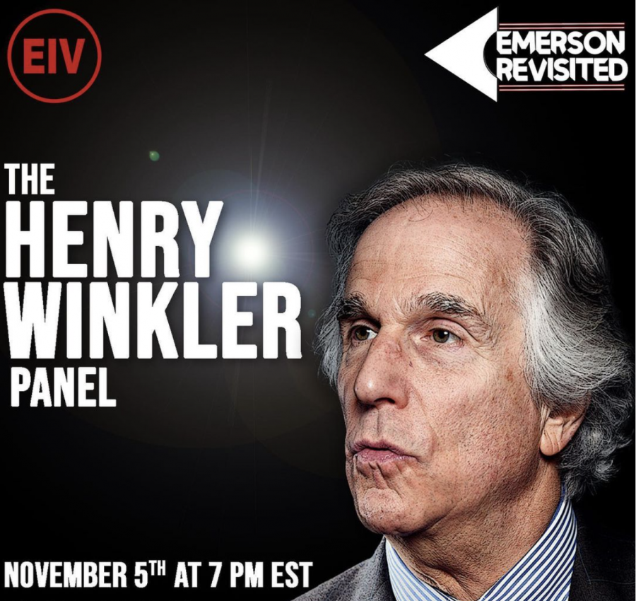 The Henry Winkler panel was a part of a virtual series hosted by EIV, Emerson Revisited.