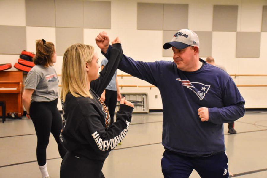 ECPD Deputy Chief Eric Schiazza teaching a self-defense class