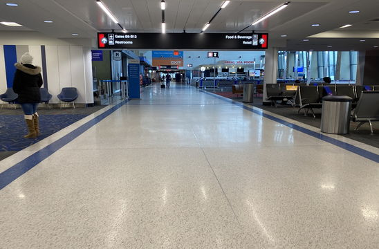 When students return to Emerson this spring, many will pass through Logan Airport.