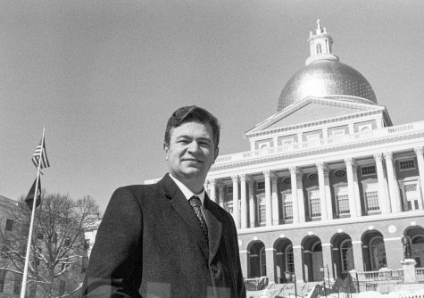 Richard Fucillo in front of the MA statehouse.