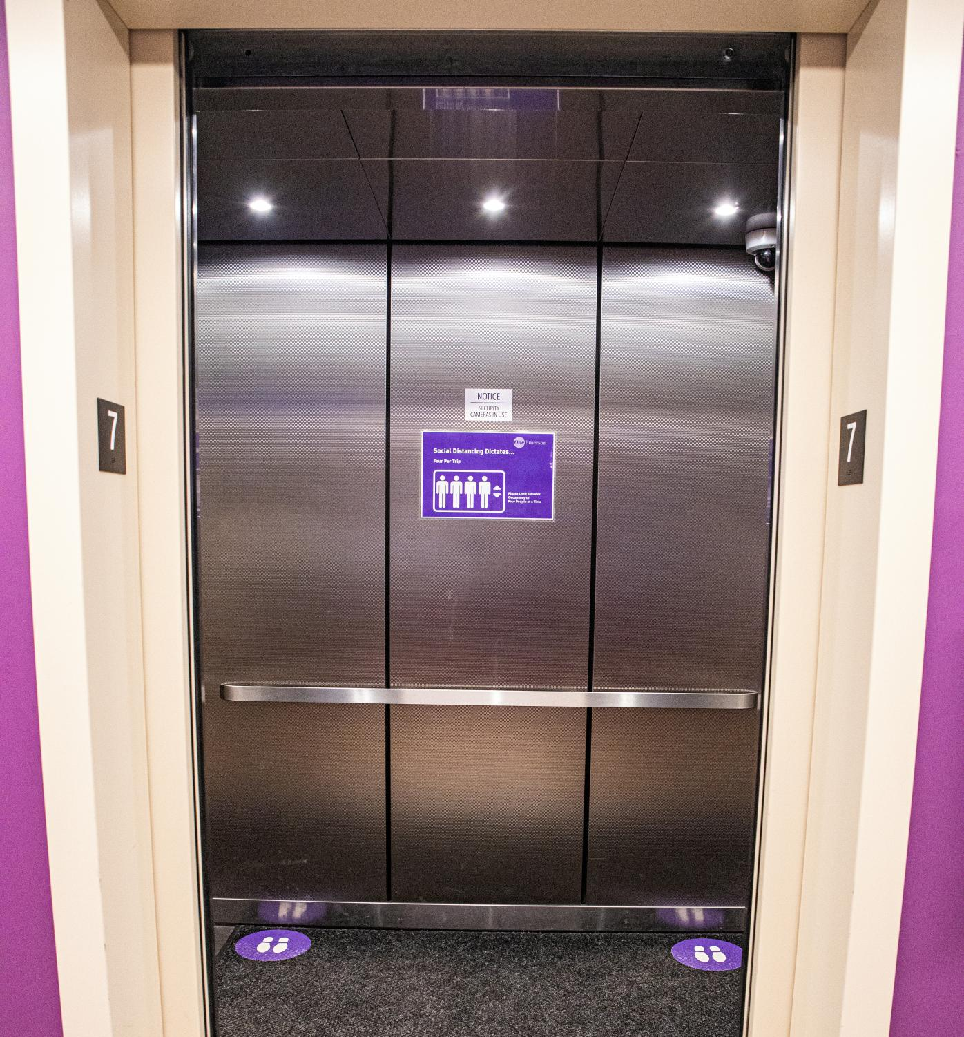 An elevator on campus.