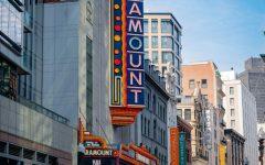 The exterior of Paramount Theater on Washington Street.