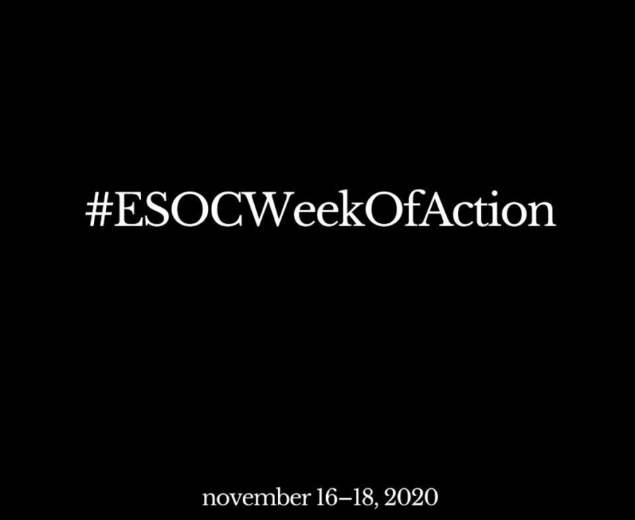 One of the graphics POWER used to promote #ESOCWeekofAction in November.