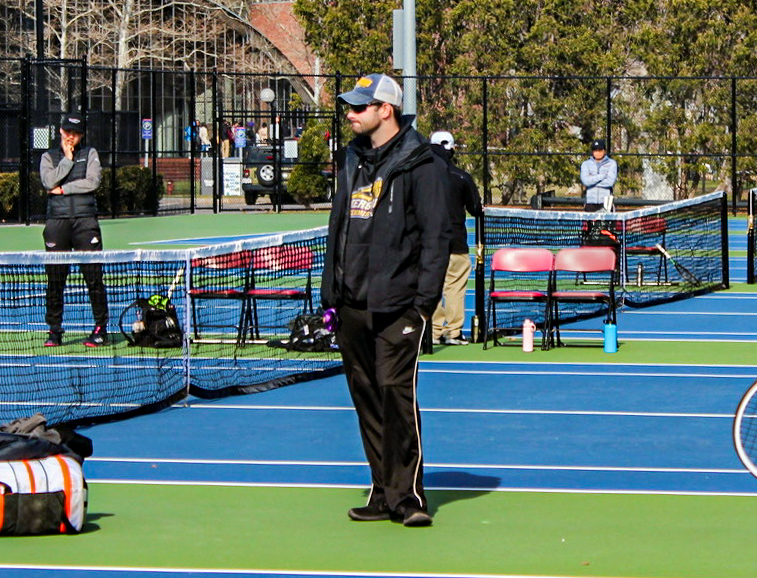 Head men's and women's tennis coach Aaron Bergeron has been on paternity leave since the birth of his child in November and will return to Emerson this week.