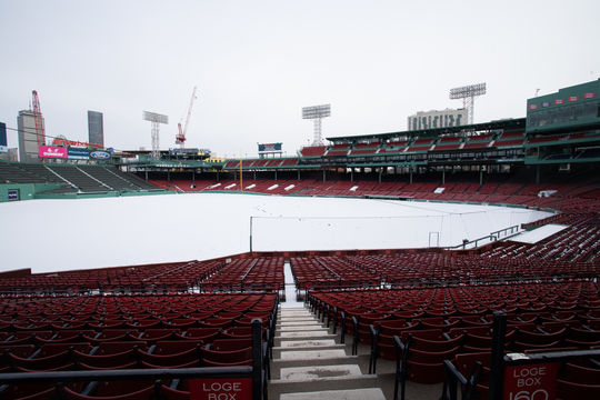 Boston's Fenway Park empty
