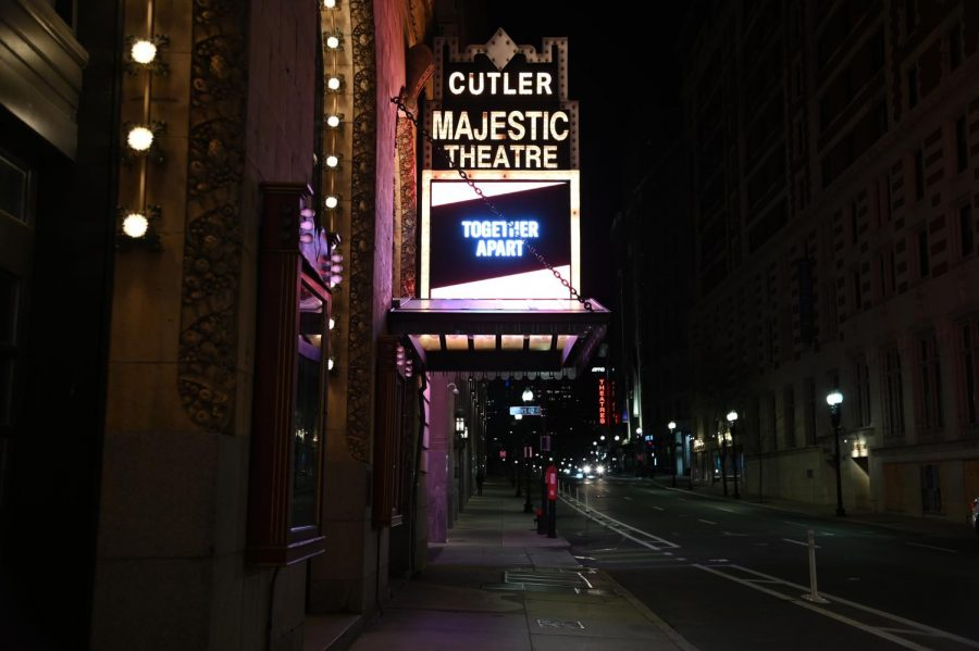 The exterior of Cutler Majestic Theatre.