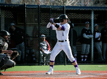 Emerson junior outfielder/pitcher Quinton Copeland steps up to the plate during a game in 2020.