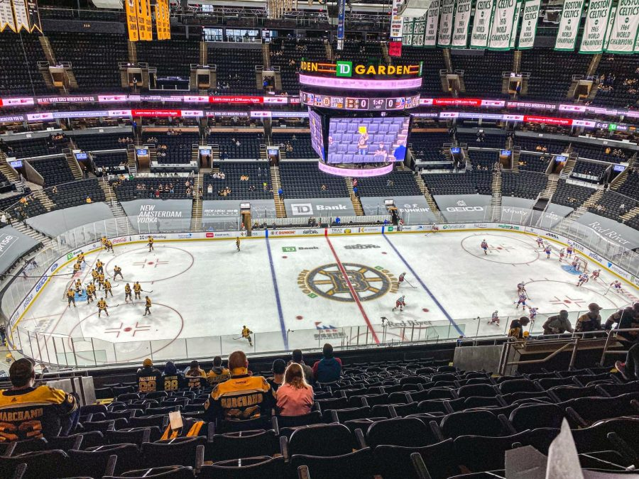 TD Garden allows only 2,142 fans at Bruins games this season, which is 12 percent of the arena's total 18,624 seat capacity.