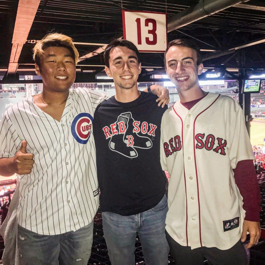 Joey+DuBois+%28right%29+at+a+Red+Sox+game+prior+to+the+pandemic.