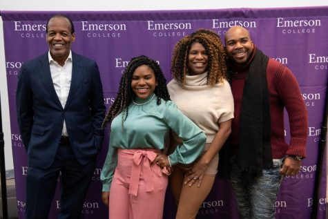 Actress Trinitee Stokes, who is set to become the youngest student at Emerson at just 15, met with former President Lee Pelton when she visited the college.