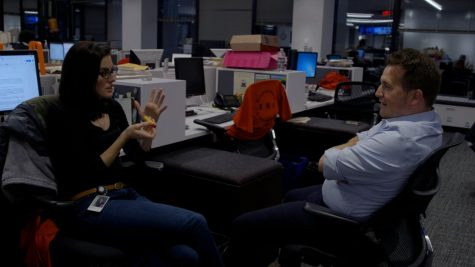 "Evan Allen and Brendan McCarthy working on the ""Blind Spot"" investigation"
