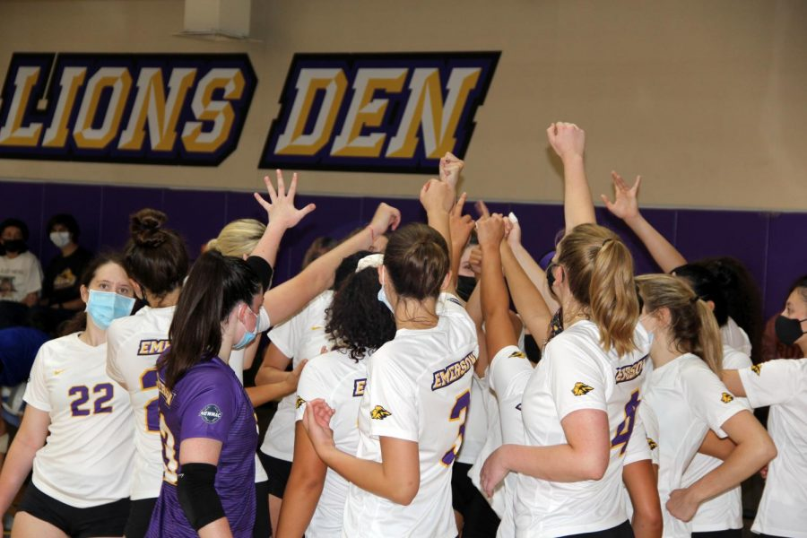 The womens volleyball team was dominant in their first match of the season.