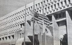 City Hall flags at half-mast, Sept. 12 2001