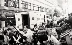 A bomb squad storms the Copley Westin Hotel on Sept. 12, 2001, looking for potential terrorist suspects.