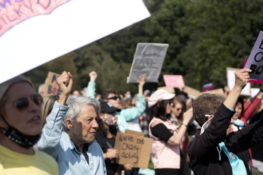 Thousands rallied in Boston for abortion right.