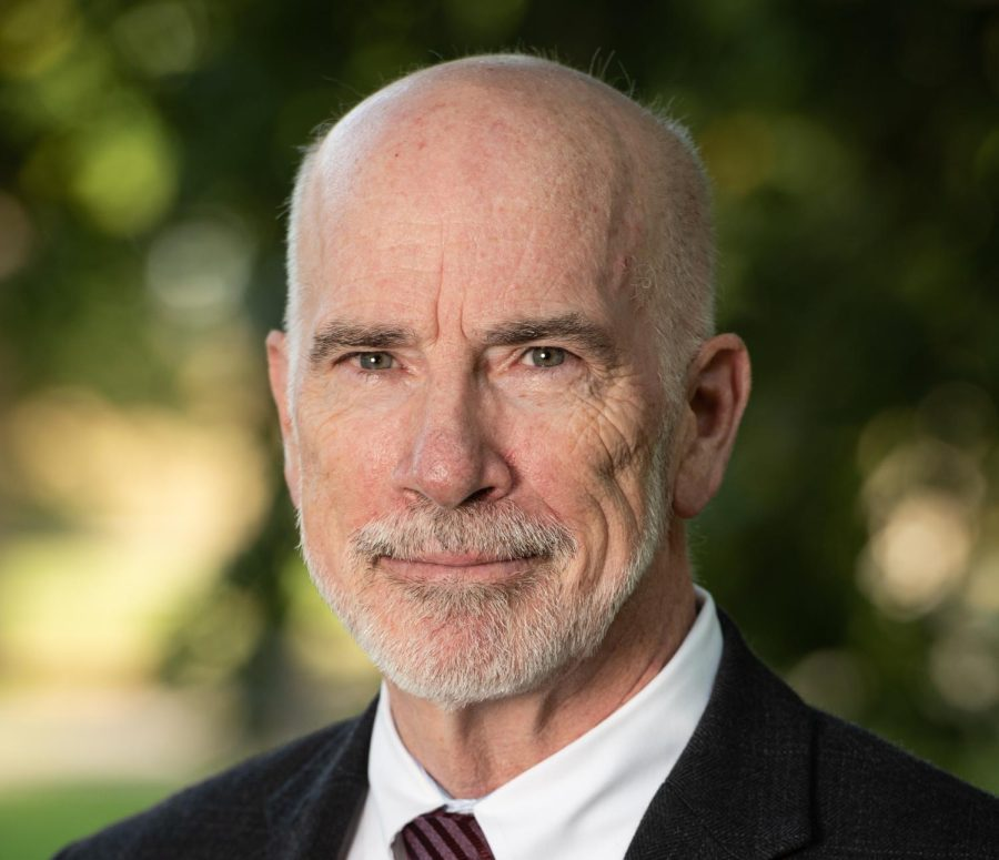 Interim president sees role as projecting 'confidence, continuity, and stability'